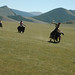 Meseta de Mongolia: montando en yak