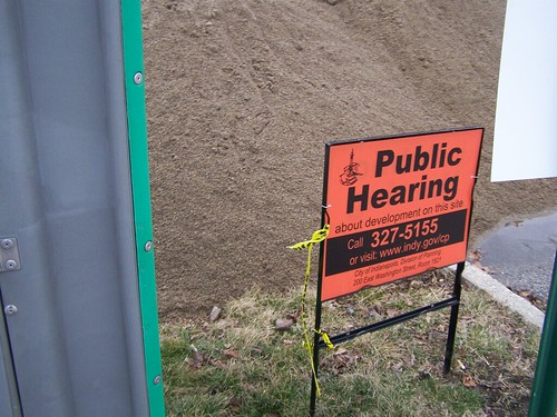 Zoning and building plans and changes must have visible posted notice in Indianapolis