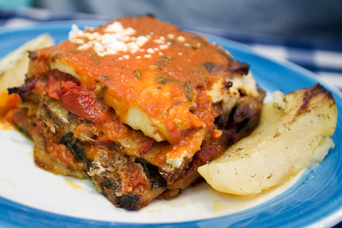 Edible Organic Green Tea Eggplant Lasagna