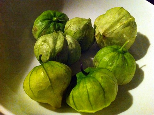 Tomatillos, prior to roasting