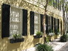 Window Boxes and Black Shutters, Charleston, SC