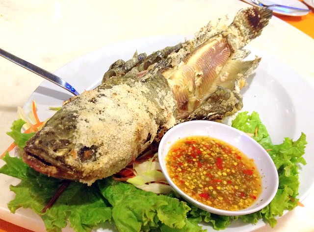 Salt Grilled Snake Fish