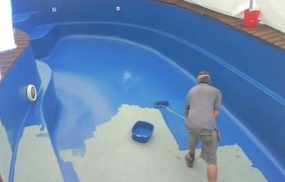 Como pintar una piscina o pileta de natacion arkigrafico for Como se hace una pileta de natacion de material
