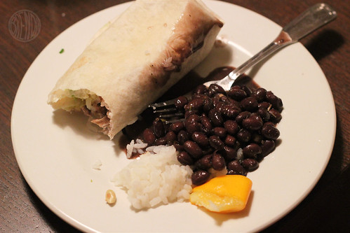 lemon beer chicken burrito