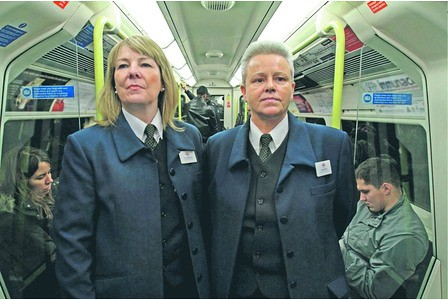 Diane McConnell and Denese Brunker - ticket inspectors in The Tube BBC2