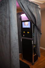 Ask about Johnny's fully curtain enclosed photo booth.