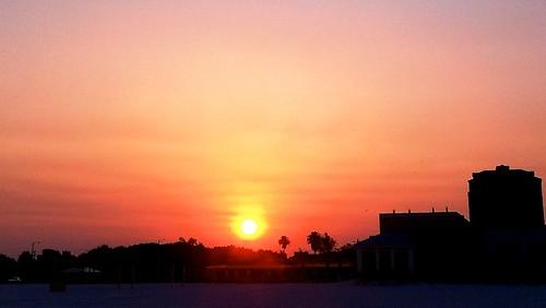 sunset beach sunrise clearwaterbeach iphotooriginal redsun
