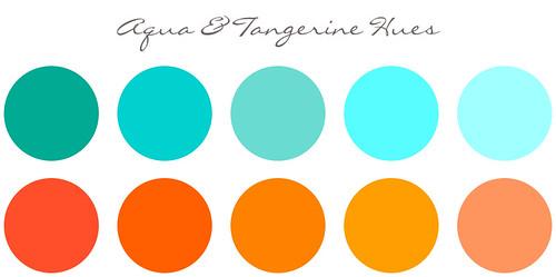 água cor de tangerina cor tema casamento 2012