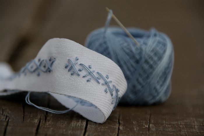 some stitching