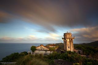 Image of Cape Engaño Lighthouse. sunset lighthouse ruins palaui santaanacagayan capeengaño palauiisland rawenbalmaña