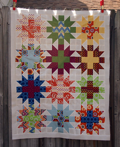 Stitch Star Crossed quilt top