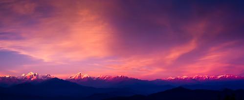 nepal nature landscape 日落 himalayas 尼泊尔 杜丽凯尔 sunseyglow