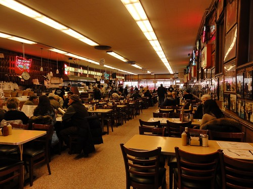 Interior of Katz's Deli New York