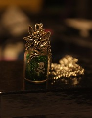 absinthe bottle necklace