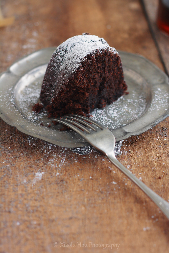 Black Russian Kahlua Vodka Cake