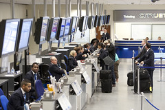 Check-in desks, Landside at London City Airport (2)
