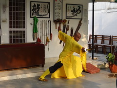 Mon, 12/03/2012 - 16:12 - Shifu Shi Yan Du (Kanishka Sharma) is the Official Buddhist Name (Darma Name) given by Shaolin Temple under the Guidance of Abbot Shi Yongxin, is a Shaolin Warrior from Shaolin Temple, China. He is the First Indian  Shaolin WarriorTo be Trained at Shaolin Temple Under the Guidance of Shifu Shi Heng Jun who introduced him to legendary Grand Master Suxi and his kungfu Brother Shifu Shi Deyang and currently is head of Shaolin India. Under Shifu Shi Heng Jun Guidance Shifu kanishka got trained in Shaolin jiben gong ShibaShi, Shaolin Tai Tzu Chang quan, Shaolin Wu bu Chuan,Shaolin Qi Xing Chua, Shaolin Xiao Hong Chuan, Shaolin Luohan Shi Ba shou, Shaolin Luohan Duanda, Shaolin Luohan chuan, Shaolin Wuxing Bafa (5 animal 8 movement), Shaolin Rumen chuan, Shaolin Kung Chuan, Shaolin Yin Shou Gun, Shaolin 9 Section whip Chain, Shaolin Broadsword (Dao), Shaolin Jian( straight sword),Shaolin Fun Mo Gun, Shaolin XinYi Quan , Shaolin Ba Duan jin and Shaolin yi jin jing Qi Gong. Shifu Kanishka also studied Shaolin San Sa liu Duanda( 36 short fighting combination of Shaolin kungfu) and Shaolin 36 Yin Chin-Na( locking system) In the year 2005 Shifu Shi Hengjun Travelled to France to spread the knowledge of Shaolin Chan Wu. Since then Shifu kanishka became disciple of Legendary Grand Master Shi Suyi (Liang Yiquan) who Deputed his Disciple Shifu Shi Yanfang who trained him in Shaolin Mehiua Chuan, Shaolin Pao Chua, Shaolin Hu chuan( Tiger fist), Shaolin Eagle Fist, Shaolin Tanglang Quan, Shaolin Kan jia chuan, Shaolin Yangjia Shi San Qiang( 13 Spear), Shaolin Moon Spade, Tongbei Chuan, Traditional Combat like Shaolin Tang fang ba, Hubpuba and introduced him to highest level of Shaolin Fighting called Xin Yi Ba. Shifu Shi Yanfang also trained Shifu kanishka intensly in Shaolin Sanshou( Free Fighting) specially in Shao Jiao( wrestling) and Shuai Fa( Takedowns) In the year 2008 Shifu Kanishka got the honor to train with Da Shifu Shi Yanzi ( a famous monk who h