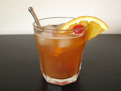 not-your-grandfather's old fashioned (made with navel orange juice)