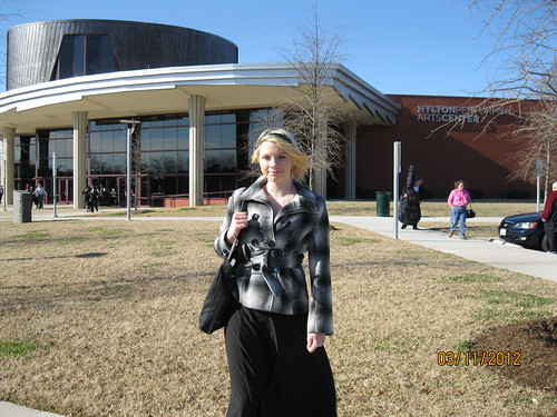 3/11/12 - Katherine after YOPW concert at Hilton Performing Arts Center