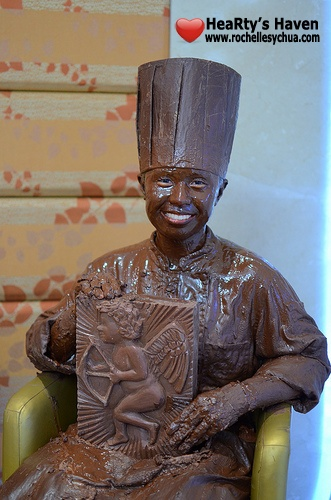 chocolate statue