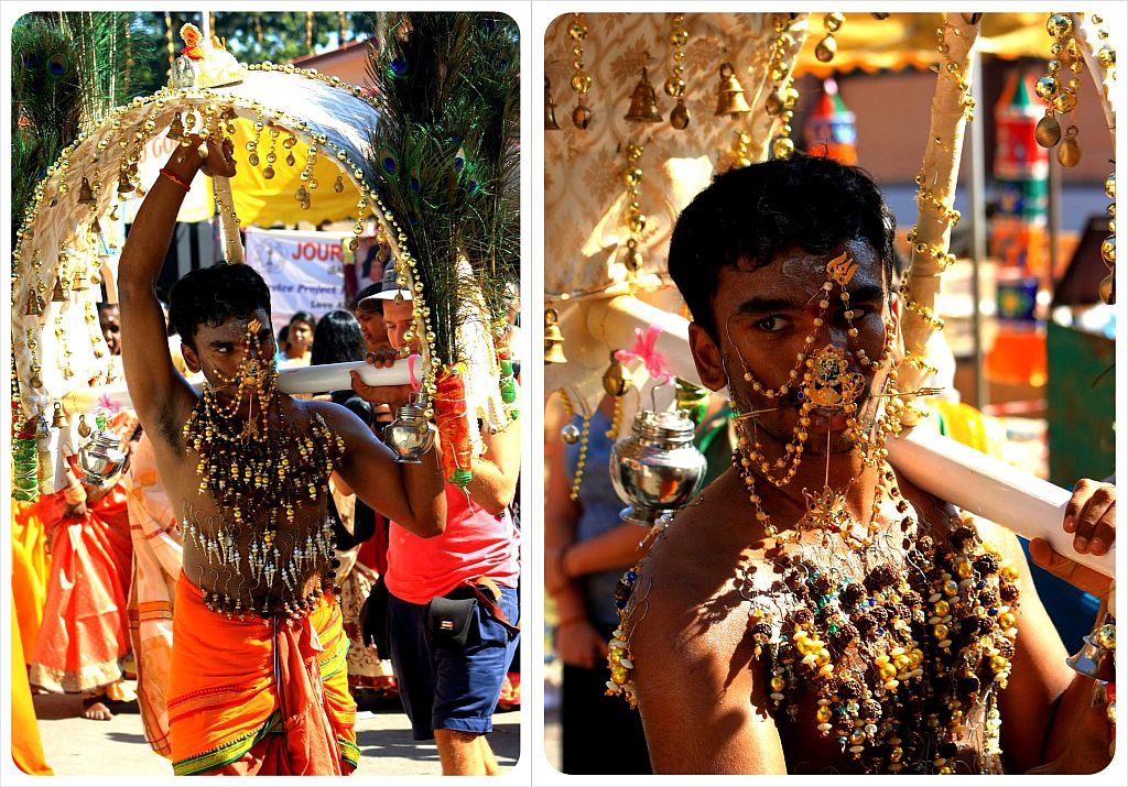 thaipusam 2012 with canopy & spears