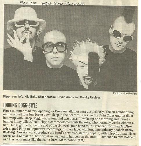 08-17-01 Mineapolis Star Tribune (Flipp Tour News Item)