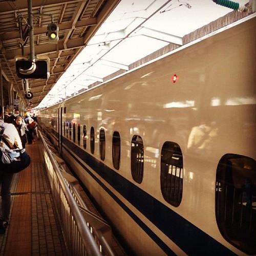 昨日。大阪に着いたのぞみ。