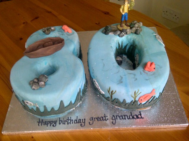 Fish Theme Birthday Birthday Cake http://www.flickr.com/photos/sweetangeldelights/6861675735/