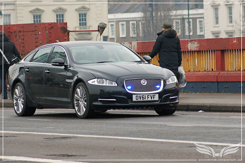 The Establishing Shot: Skyfall Vauxhall Bridge - M's Jaguar XJL Exterior crossing towards MI6 by Craig Grobler
