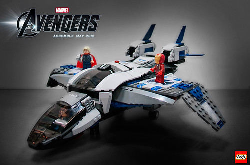 6869 Quinjet Aerial Battle 1