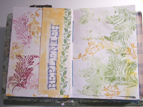 Art Journal page - replenish