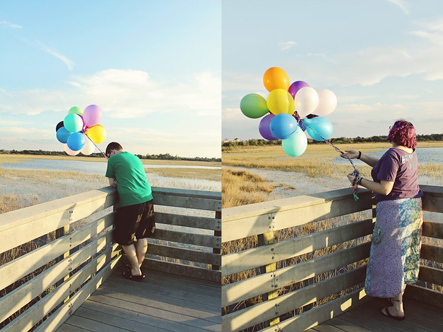 balloon shoot 16 diptych
