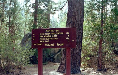 Fishbowls Trail sign, 9/1984