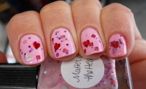 Lynnderella Matter of the Heart over Essie French Affair