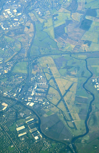 Glasgow airport, aerial photo