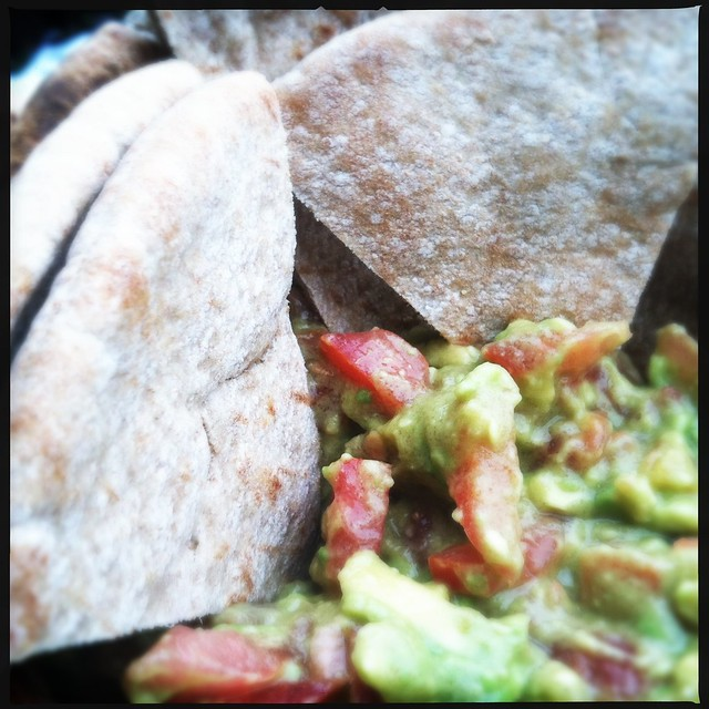 Guacamole with Toasted Whole Wheat Pita