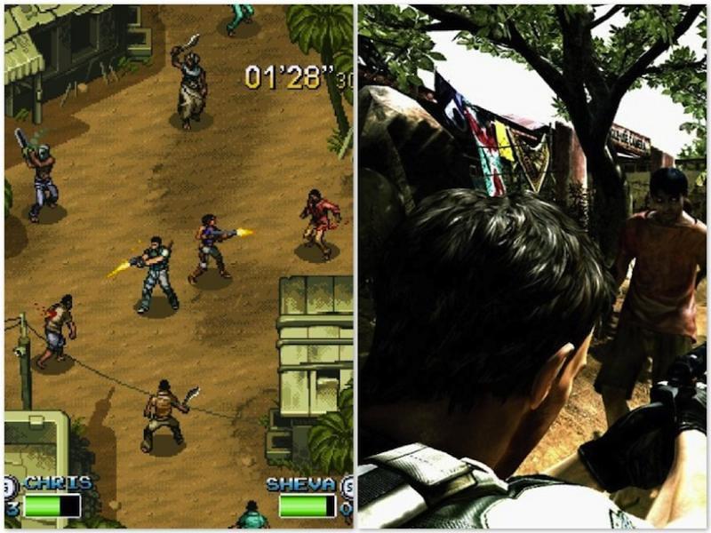 Alguém tem saudades dos video games de 8 Bits resident evil 5