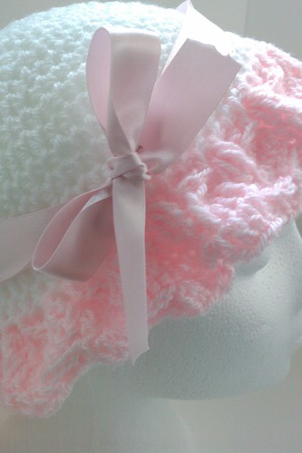 Easter crochet bonnet