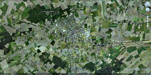 Baarle-Hartog & Baarle-Nassau (via Google Earth)