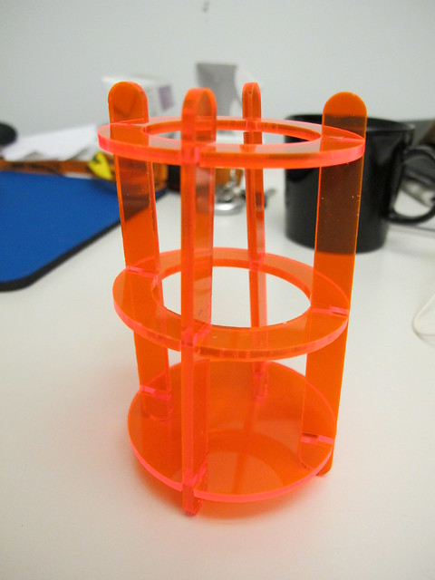 Press fit pen stand