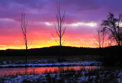 winter sunset ohio rural landscape twilight holmescounty