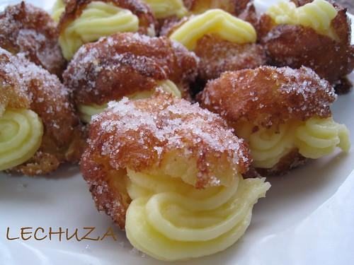 Buñuelos con crema pastelera (1)