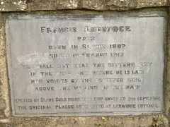 Photo of Francis Ledwidge stone plaque