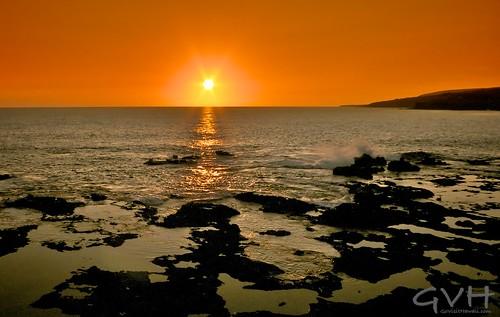 Lanai Sunset from the ledge near Puupehe (Sweetheart Rock)