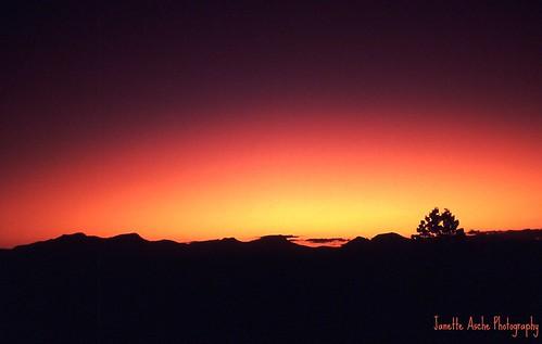park sunset sky film silhouette clouds 35mm se mt australia slide hills 1993 national scanned qld queensland barney jacksplace mtmaroon