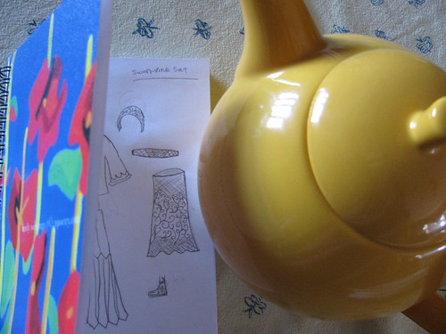 Teapot and Journal