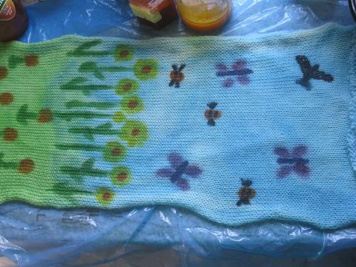 Springtime sock blank