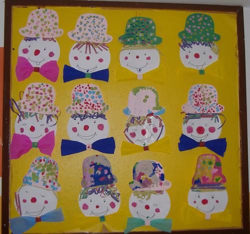 ideias para o outono jardim de infancia : ideias para o outono jardim de infancia:Palhaços de Carnaval – Jardim de Infância de Torneiros