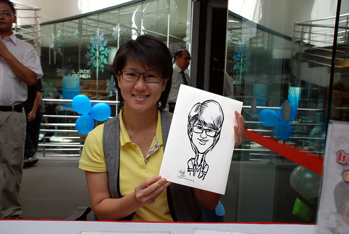 Caricature live sketching for Singapore Suntec City Annual Party - 10