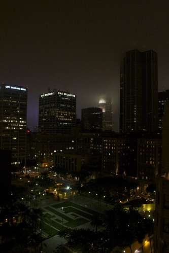 views of DTLA from Perch